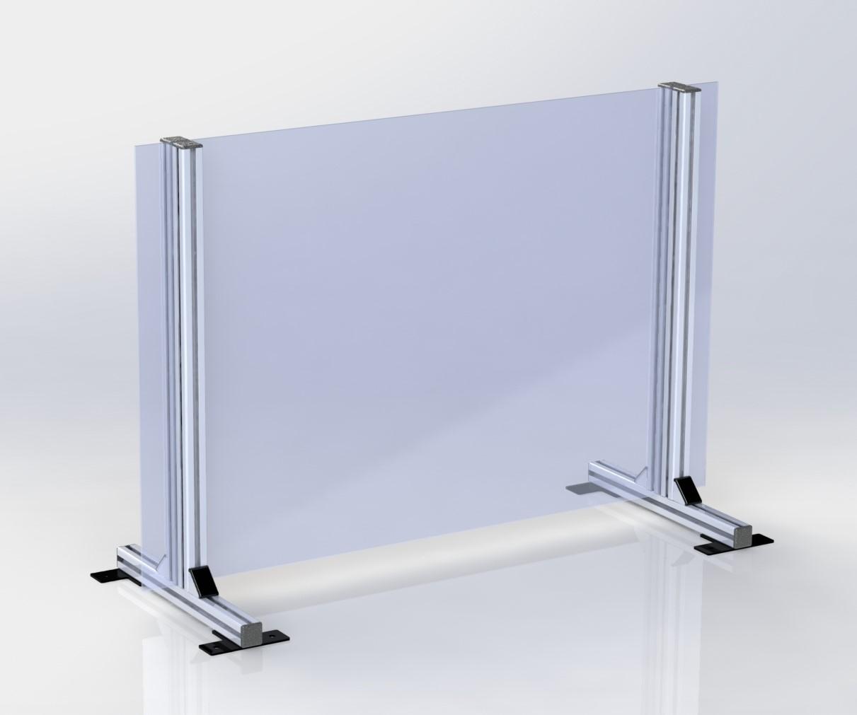Durchreiche 31x25 cm HOCHFORMAT Spuckschutz Schutzscheibe Tischaufsatz 58x90 cm